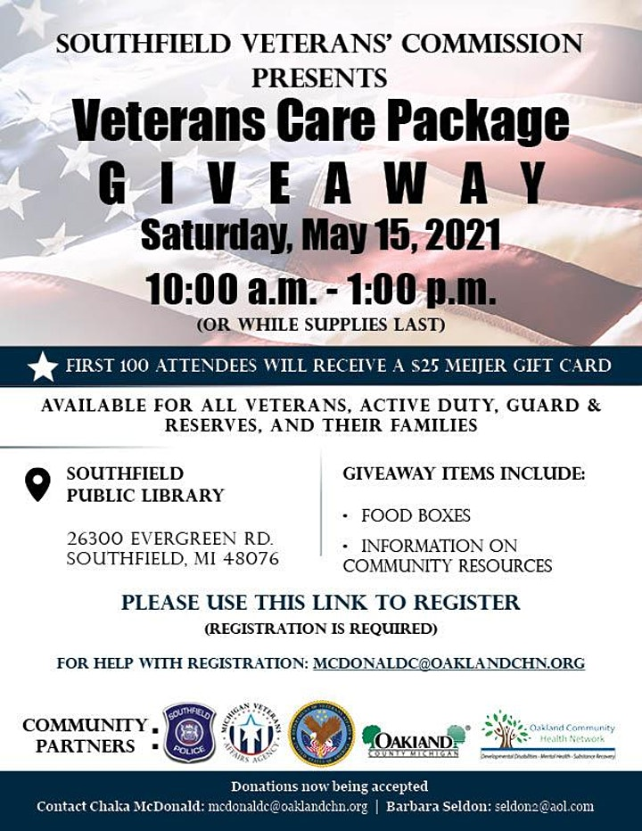 Veterans Care Package Giveaway image