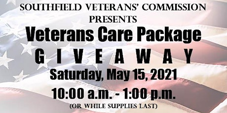 Veterans Care Package Giveaway tickets