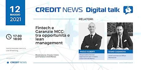 Fintech e Garanzie MCC:  tra opportunità e lean management biglietti