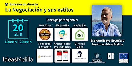 Ideas Melilla | La negociación y sus estilos boletos