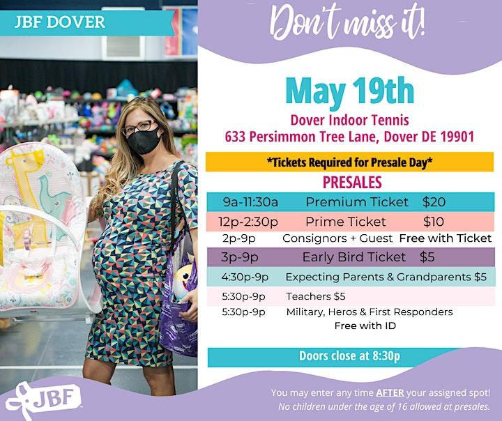 Presale Tickets | Dover  Spring 2021 image