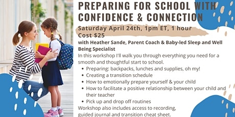 Starting School with Confidence & Connection tickets