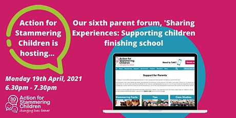 Sharing Experiences: How to best support children finishing school tickets