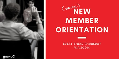 New Member Orientation // Welcome to Geekdom tickets