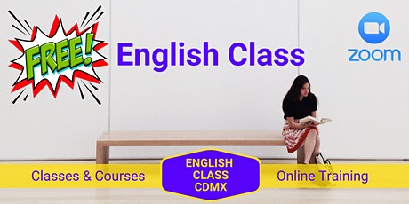 Online English Class.  Free Trial! boletos