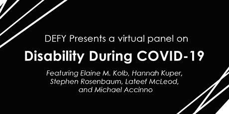 Disability During Covid | DEFY Panel tickets