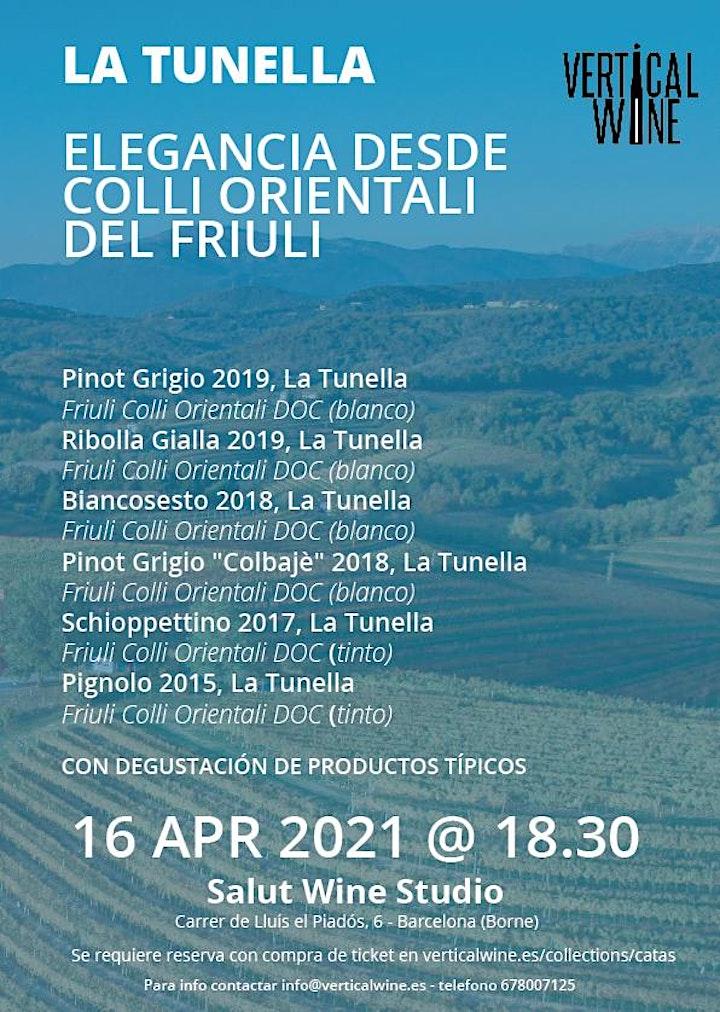 Imagen de WINE TASTING: Friuli y Bodega LA TUNELLA