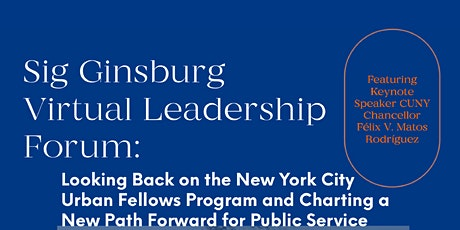 The 1st Annual Sig Ginsburg Leadership Forum, hosted by UFAA tickets