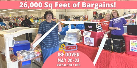 FREE Admission Ticket |May 20-23 | JBF Dover Spring Sale tickets