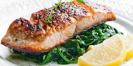 UBS - Virtual Cooking Class: Air Fryer Series:Garlic Honey Salmon + Spinach tickets