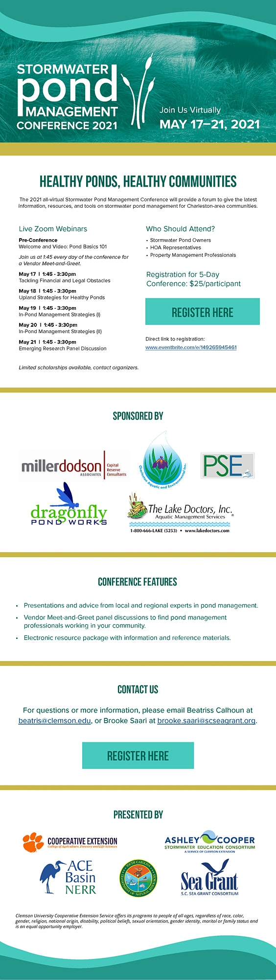 2021 Charleston Area Stormwater Pond Management Conference image