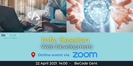 BeCode Gent - Info Session - Web Development tickets