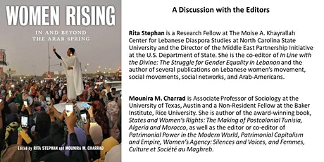 """A Discussion with Editors of """"Women Rising: In and Beyond the Arab Spring"""" tickets"""