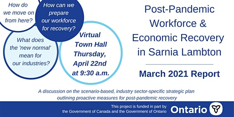 Post-Pandemic Workforce and Economic Recovery in Sarnia Lambton Town Hall tickets