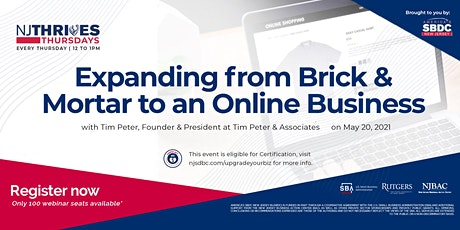 Expanding from Brick & Mortar to an Online Business tickets