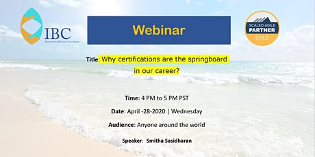 Why are certifications the springboard in our career advancements? tickets
