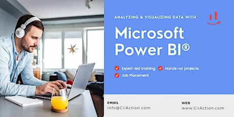 Power BI Training, Analyzing and Visualizing Data with MS Power BI tickets