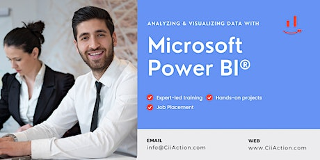 Power BI Course,  Analyzing and Visualizing Data with Microsoft Power BI tickets
