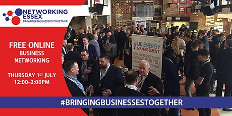(FREE) Networking Essex online 1st July between 12pm-2pm Tickets