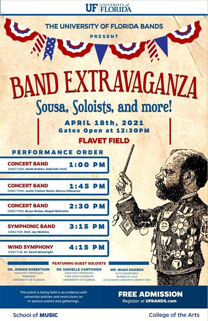 UF Bands present Band Extravaganza - Sousa, Soloists & more! image
