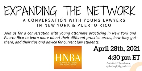 Expanding the Network: A conversation with young lawyers in New York & PR tickets
