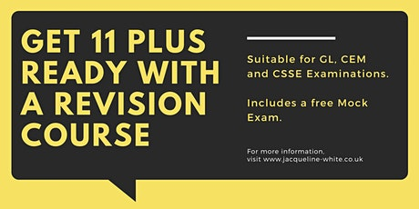 11 Plus Revision Courses Online - CSSE, CEM, GL- 3 Intensive Summer Courses tickets
