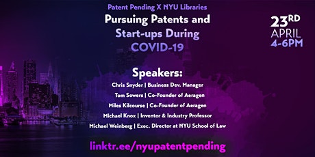 Pursuing Patents: A Panel of Experts on What You Need to Know tickets