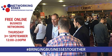 (FREE) Networking Essex online 3rd September between 12pm-2pm tickets