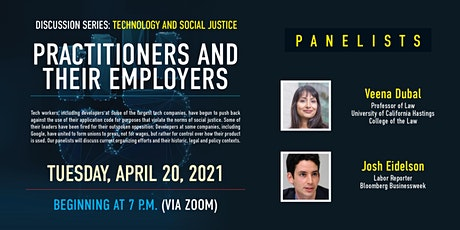 Tech & Social Justice Speaker Series-Practitioners and Their Employers tickets