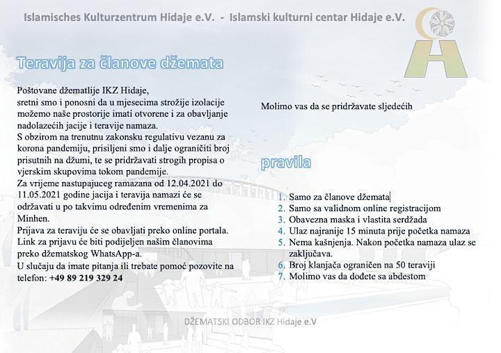 Teravija za članove u IKZ Hidaje 12.04 - 12.05.2021: Bild