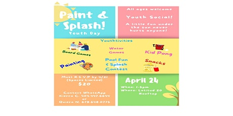 Paint & Splash Youth Day! tickets