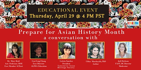 Prepare for Asian Heritage Month (May) - EDUCATIONAL EVENT tickets