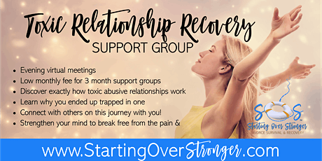 Toxic Relationship Recovery 3-month Support Group tickets