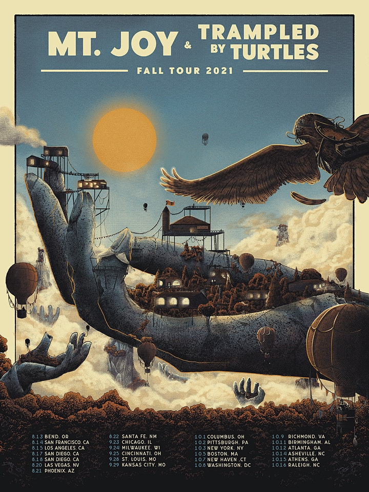 Mt. Joy & Trampled By Turtles Fall Tour 2021 image