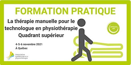 La thérapie manuelle pour le T. phys. – Quadrant supérieur (Québec) billets