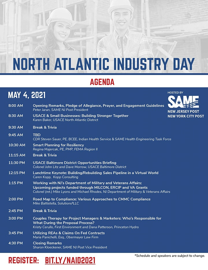 North Atlantic Industry Day - Hosts SAME NJ and NYC Post image