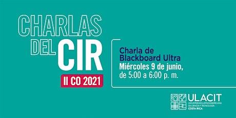 Charla de Blackboard Ultra Tickets