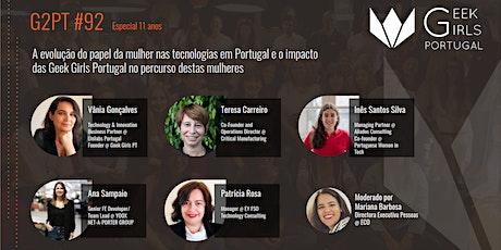 G2PT92 - 92º Geek Girls Portugal Online bilhetes