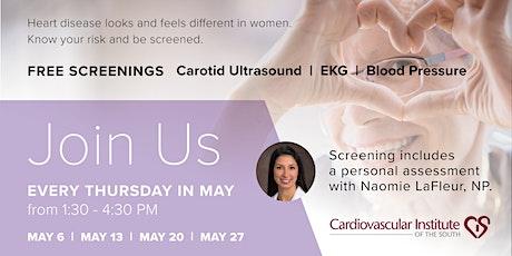 CIS LGSW: Free Women's Cardiac Wellness Screenings (May 13) tickets