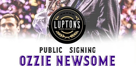 Ozzie Newsome Public Autograph Signing tickets