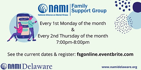 NAMI Delaware Family Support Group Online tickets