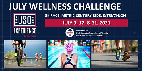 USO Experience Virginia Beach  July Wellness Challenge  Metric Century Ride tickets