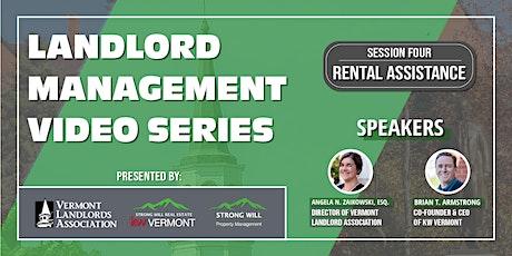 Landlord Management Series: Rental Assistance Update tickets