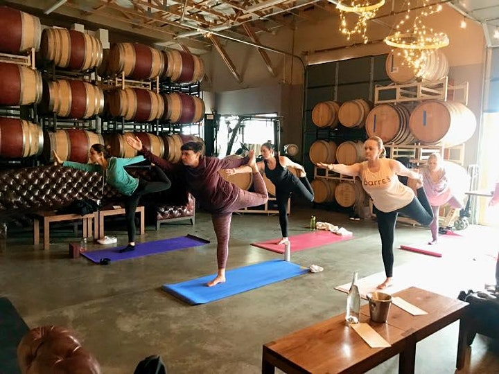 Yoga + Wine at Even Keel Roadhouse image