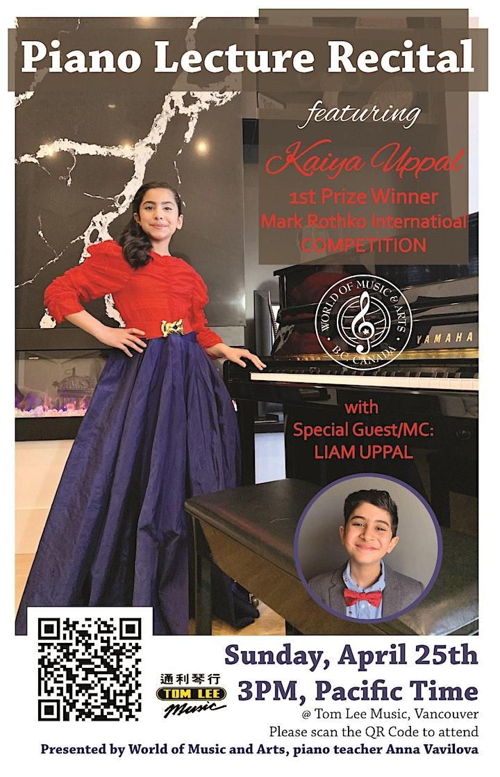 Kaiya Uppal, Piano Concert image