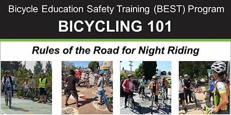 BIKE MONTH: Bicycling 101-Rules of the Road for Night Riding - Online Class tickets