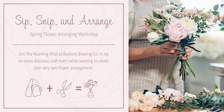 Spring Flower Arranging Workshop and Craft Beer tickets