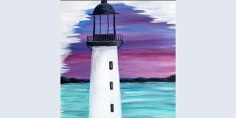 60min How to Paint a Landscape Scenery - Lighthouse @11AM  (Ages  7+) tickets