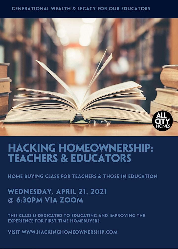 Hacking Homeownership: For Teachers & Educators image