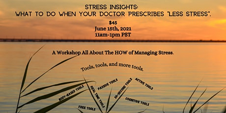 "STRESS INSIGHTS: What To Do When Your Doctor Prescribes ""Less Stress"". tickets"
